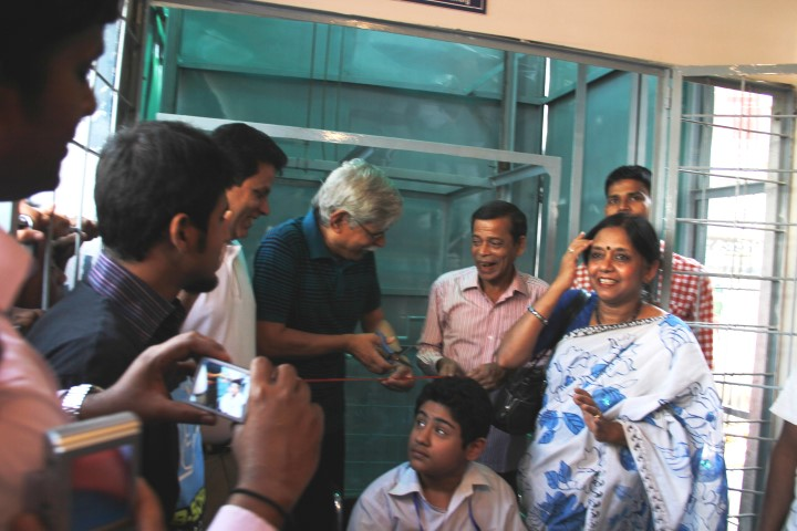 Manual Wheelchair Lift at Siddheshwari Boys High School